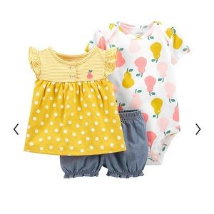 NWT Carter's 3 Piece Pear Outfit